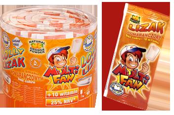 Γλειφιτζούρι MULTIFAN με 10 Βιταμίνες, Γεύση Πορτοκάλι